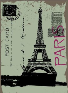 Eiffel Tower post card