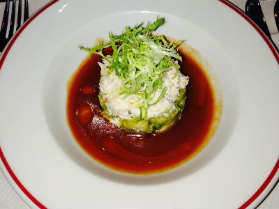 Crab salad bloody tomao dressing - Joe Allen restaurant London - restaurant reviews - food