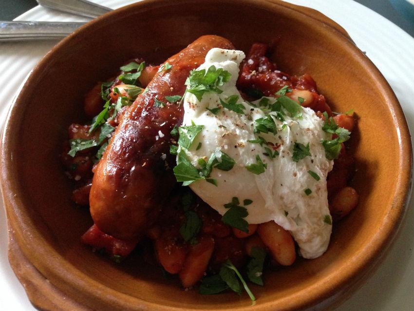 Boston beans poached egg