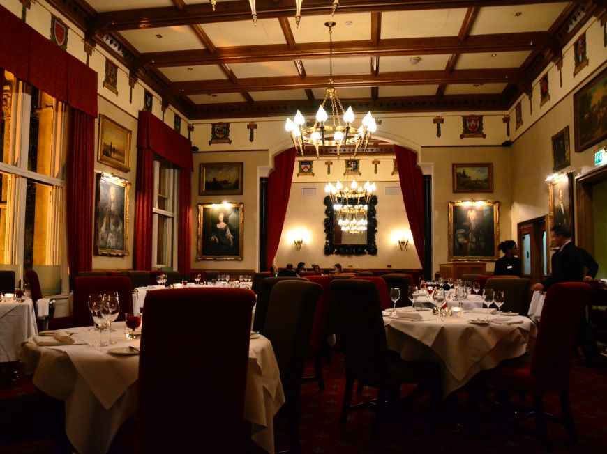 Macdonald Randolph hotel dining room