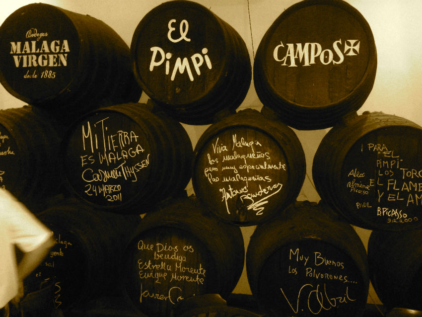 El Pimpi restaurant Malaga