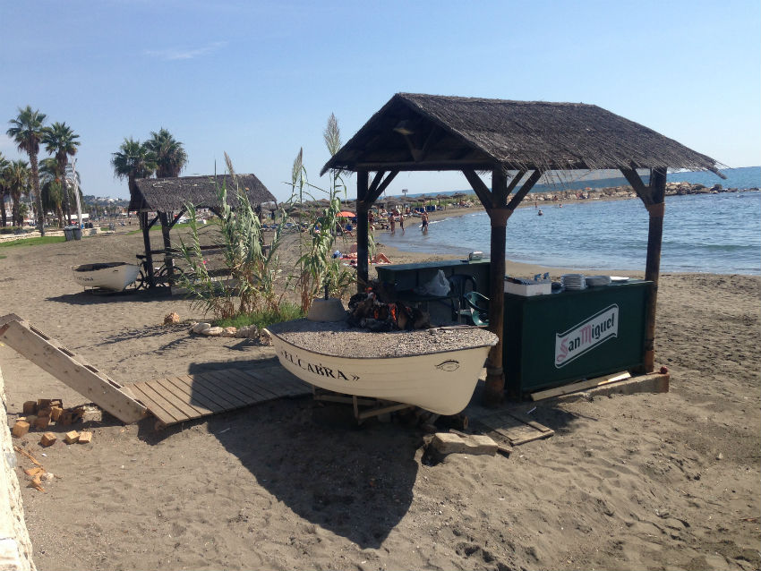 Fishing boat Malaga beach