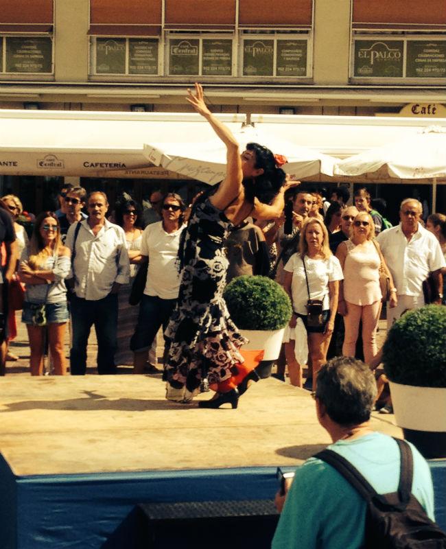 Flamenco dance Malaga city centre