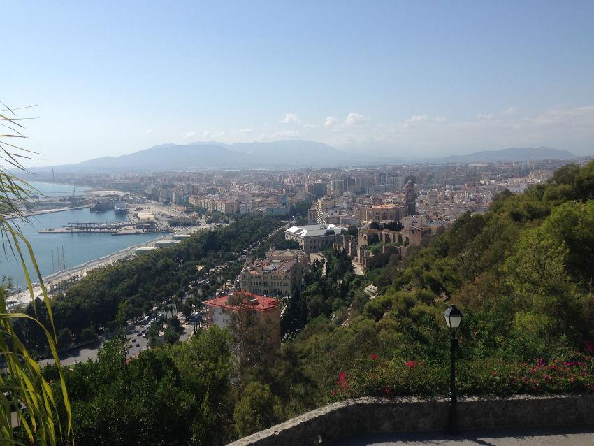 Malaga city view
